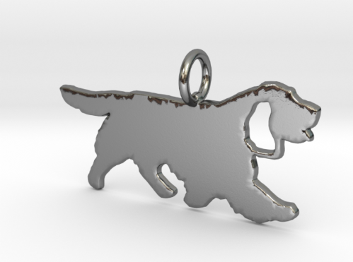 Sussex Spaniel trot  pendant necklace sterling silver handmade